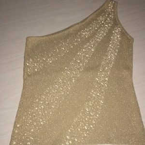 One shouldered sparkly top